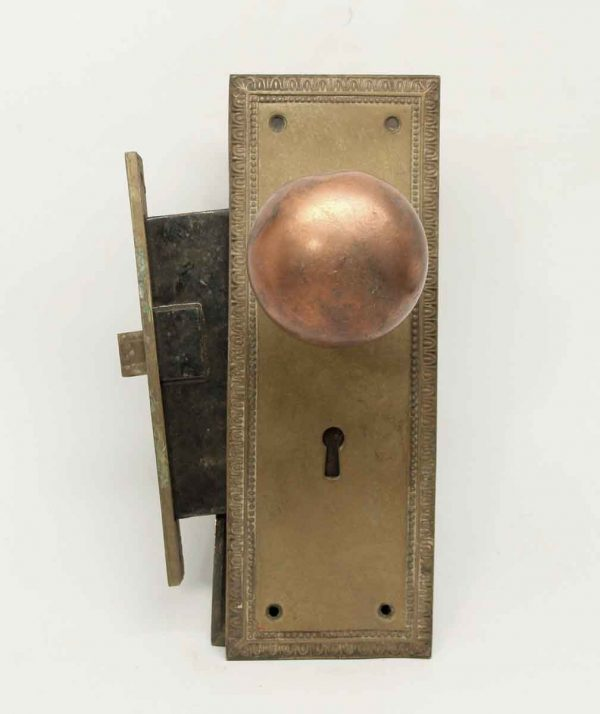 Cast Brass Entry Doorknob Set