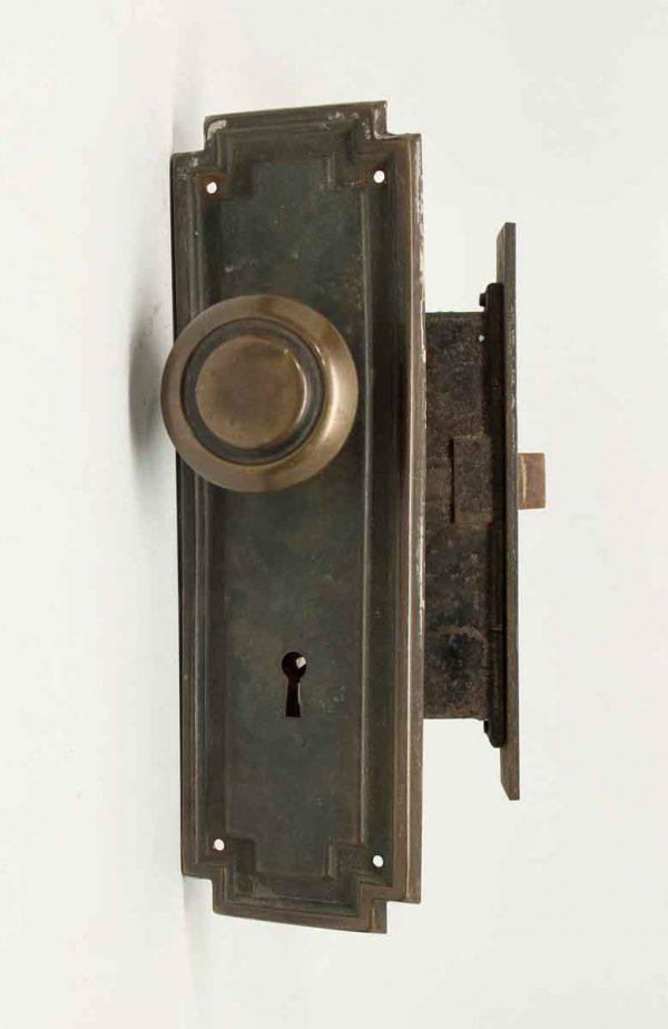 Brass Art Deco Knob & Lock Set