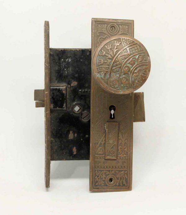 Vernacular Corbin Brass Knob & Lock Set
