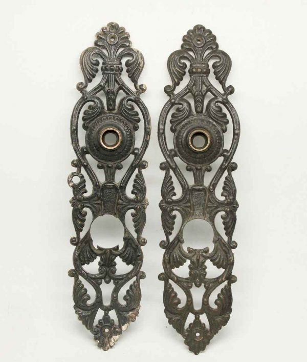 Pair of Rare Bronze Detailed Back Plates