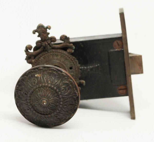 Ornate Knob & Lock Set with Original Patina