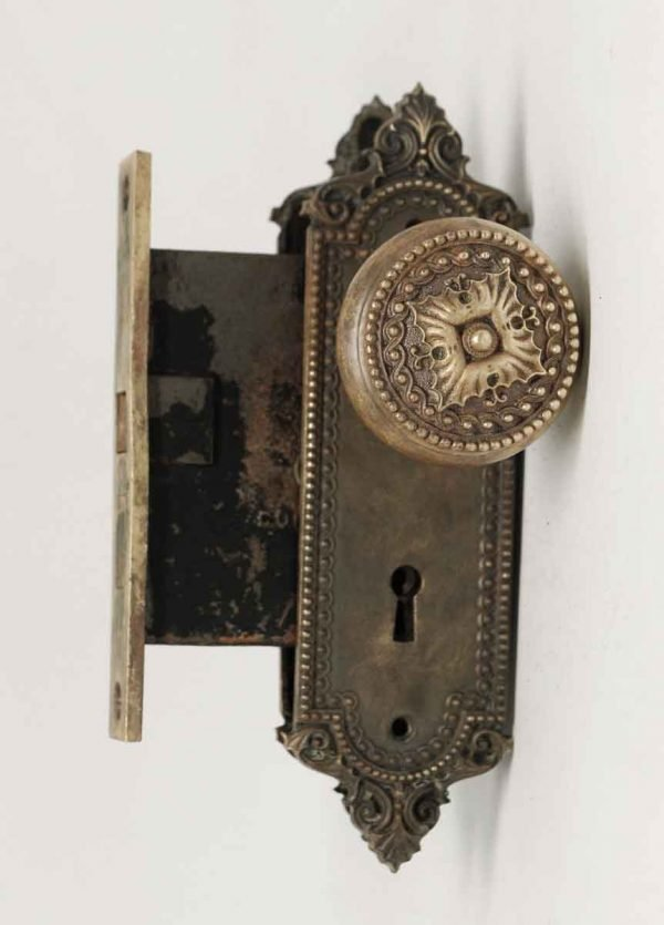 Greek Ornate Interior Doorknob Set
