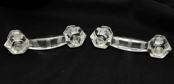 Pair of Antique Deco Glass Pulls