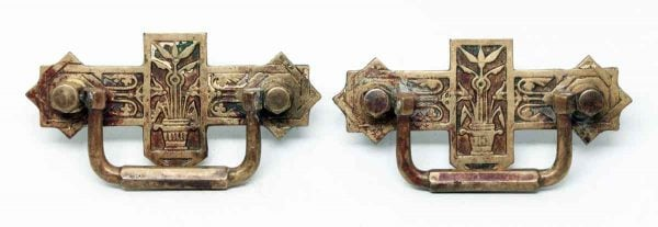 Pair of Eastlake Brass Pulls