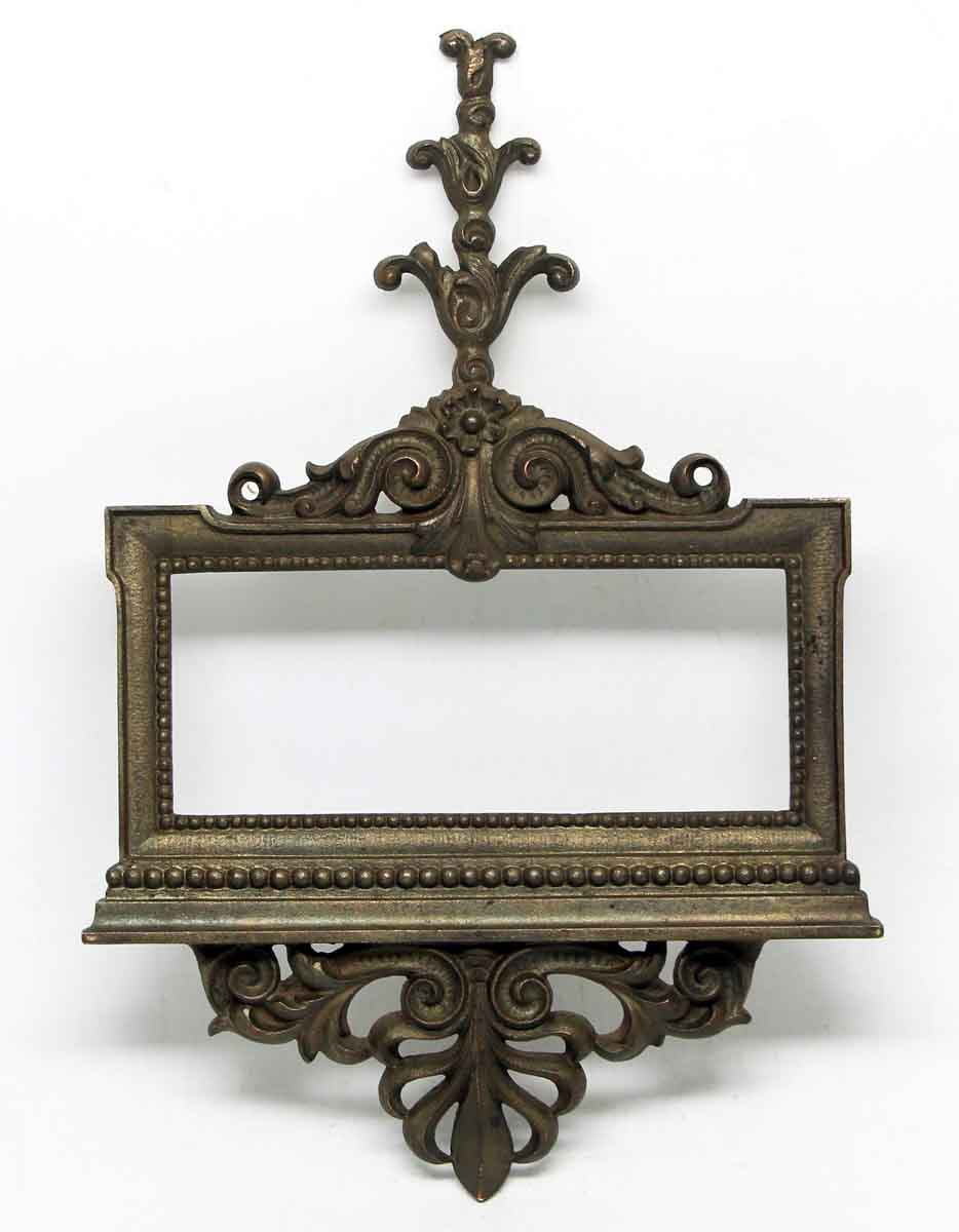 Ornate Bronze Building Sign Holder | Olde Good Things
