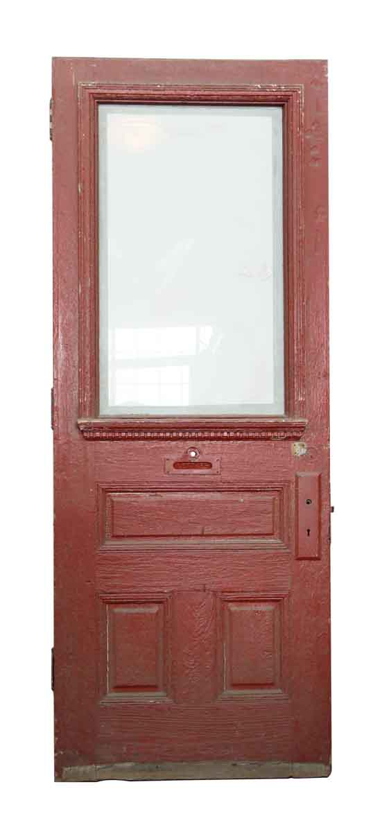 Single Wood Door with Beveled Glass