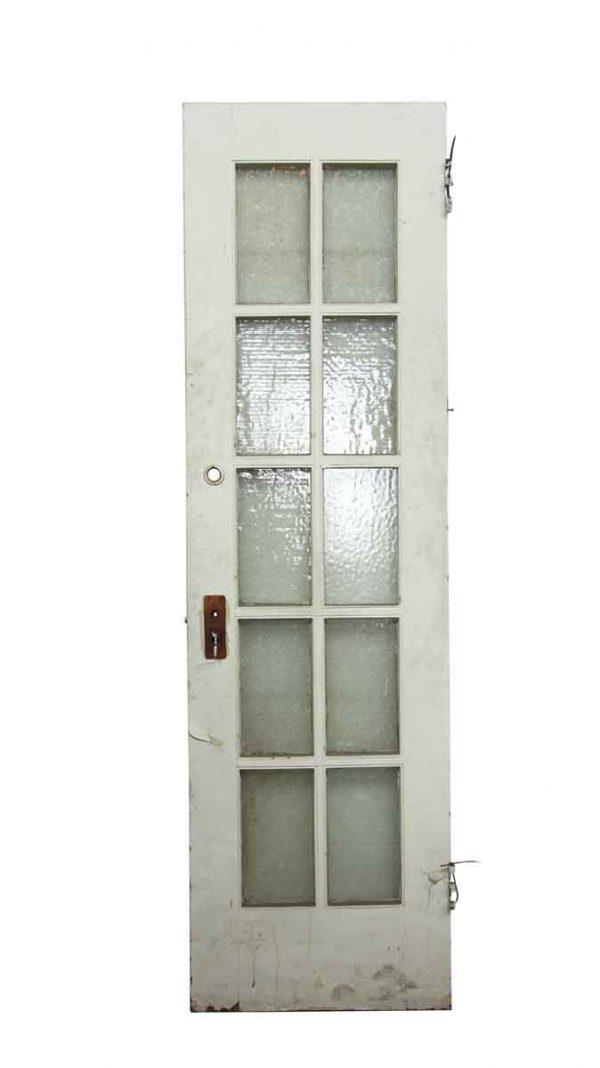 Single White Snowflake Glass Panel Wood Door