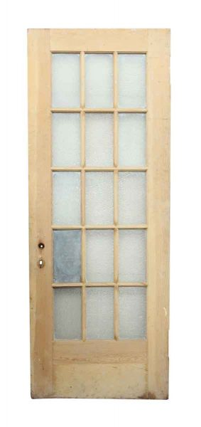 15 Snowflake Glass Panel Wood Door