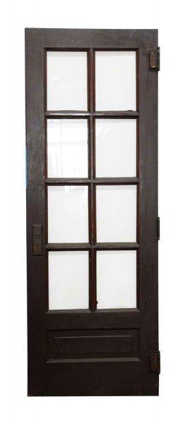 Eight Glass Panel Wood Door