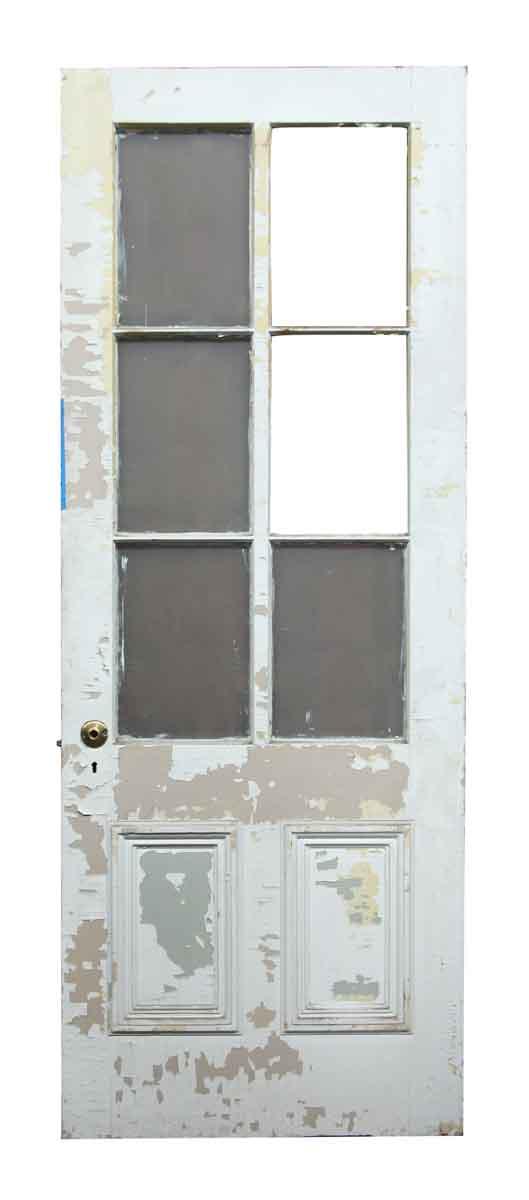 Six Glass Panel Wooden Door