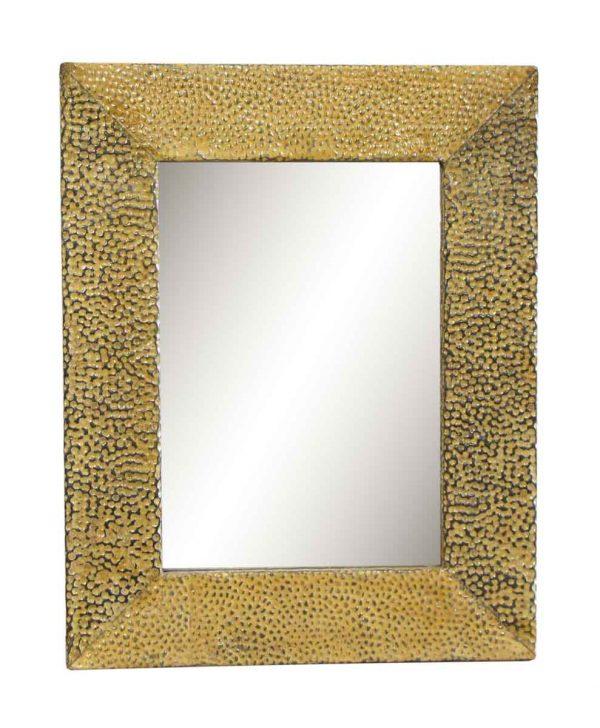 Yellow Texture Tin Mirror
