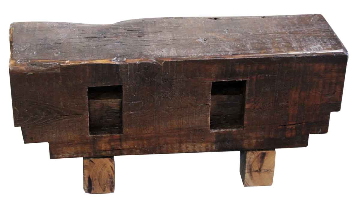 Wooden block bench olde good things