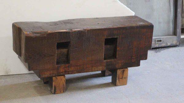 Wooden Block Bench