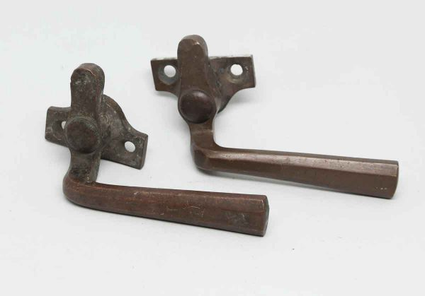 Pair of Bronze Shutter Latches