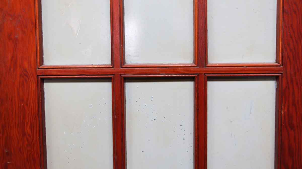 Pair of 15 glass panel wood doors olde good things for 15 panel glass french door