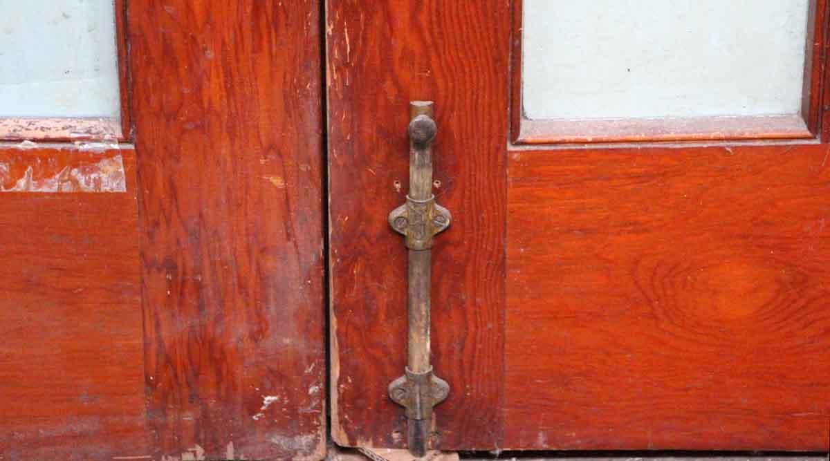 Pair of 15 glass panel wood doors olde good things for 15 panel wood door