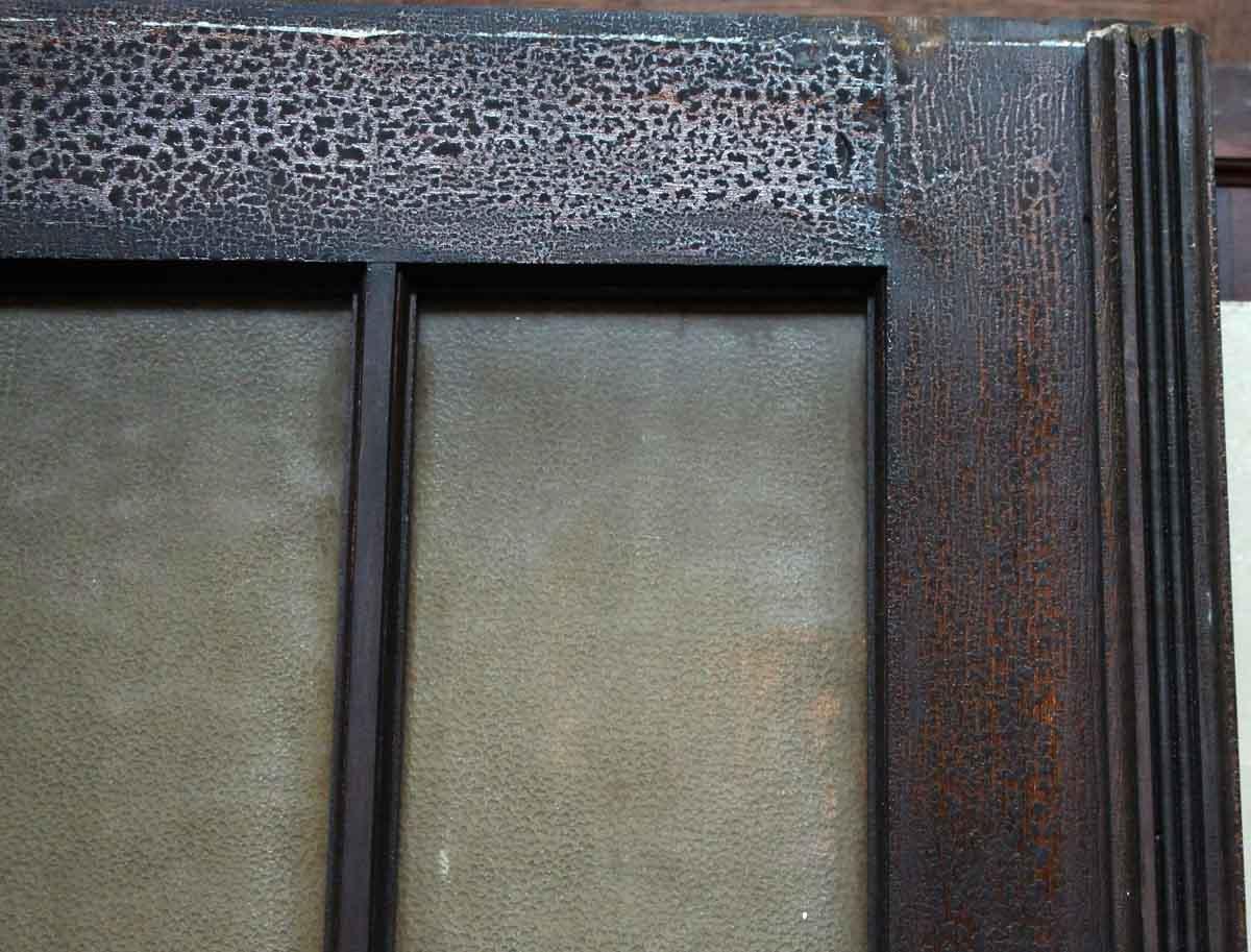 Wood door with 15 textured glass panels olde good things for Textured glass panels