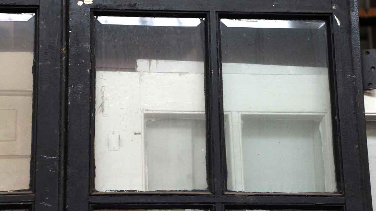 Pair of 10 beveled glass panel wood doors olde good things for 10 panel glass door
