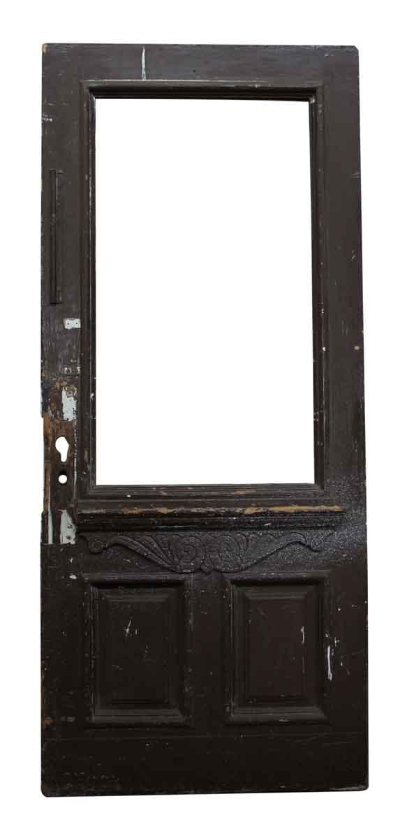 Wood Door with Carved Details