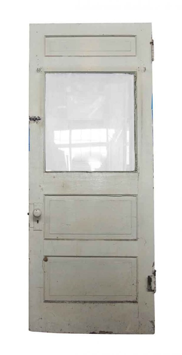 Single Wooden Door with Glass Panel