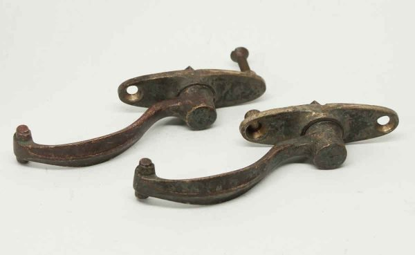 Set of Two Bronze Tudor Shutter Latches