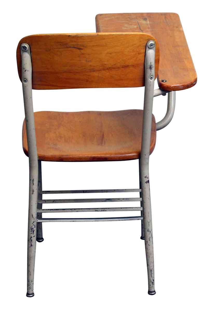 Strange Salvaged School Chairs With Attached Desk Unemploymentrelief Wooden Chair Designs For Living Room Unemploymentrelieforg