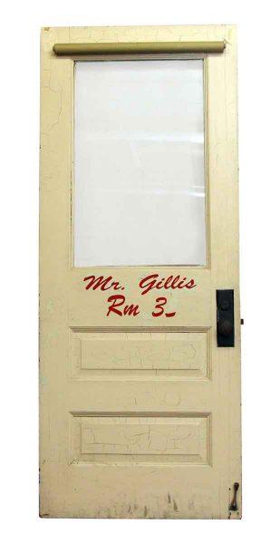 Wood Door with Glass Panels