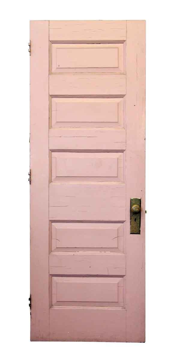 Five Panel Pink Wood Door