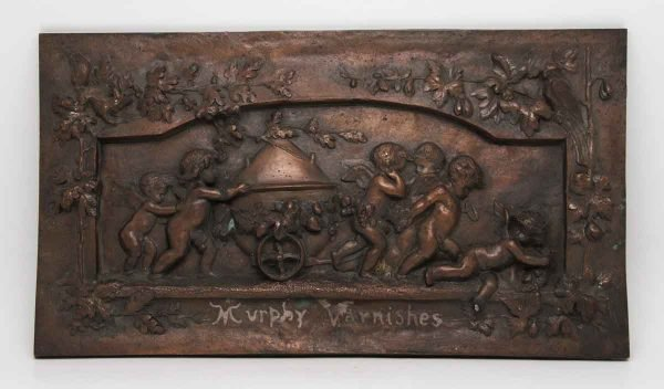 Cherubic Copper Plated 3d Plaque