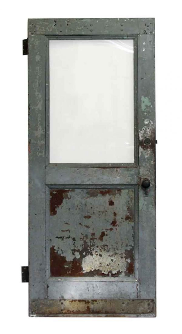 Single Glass Panel Metal Door