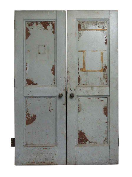 Pair of Steel Clad Paneled Doors