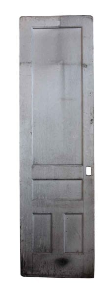 Tall Narrow Antique Painted Door with Four Panels