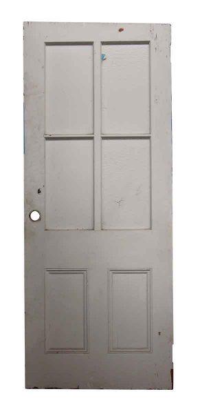 Single White Four Glass Panel Door