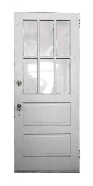Single Six Glass Panel Wood Door