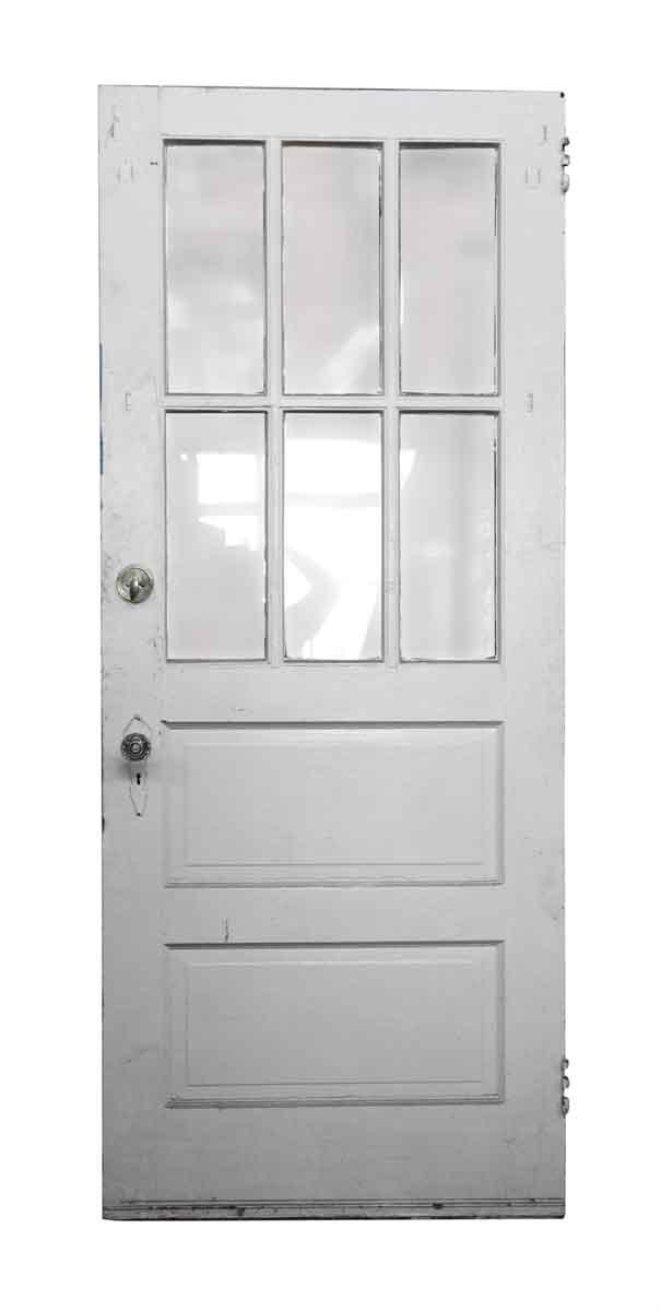 Single six glass panel wood door olde good things for 6 panel glass exterior door