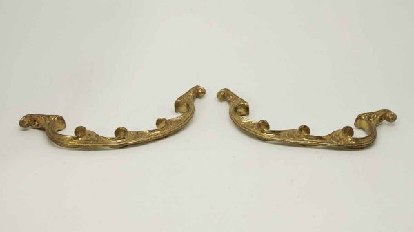 Pair of Gilded French Drawer Pulls