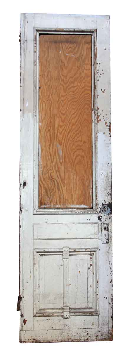 Single Wooden Door with Three Panels