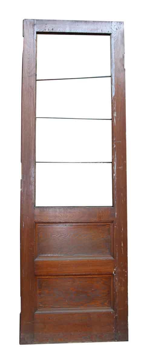 Triple Panel Wood Door