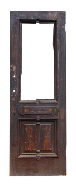 Brownstone Door with Two Panels