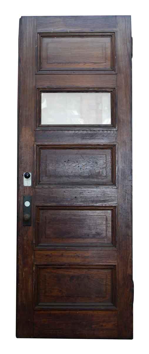 five horizontal glass wood panel door olde good things