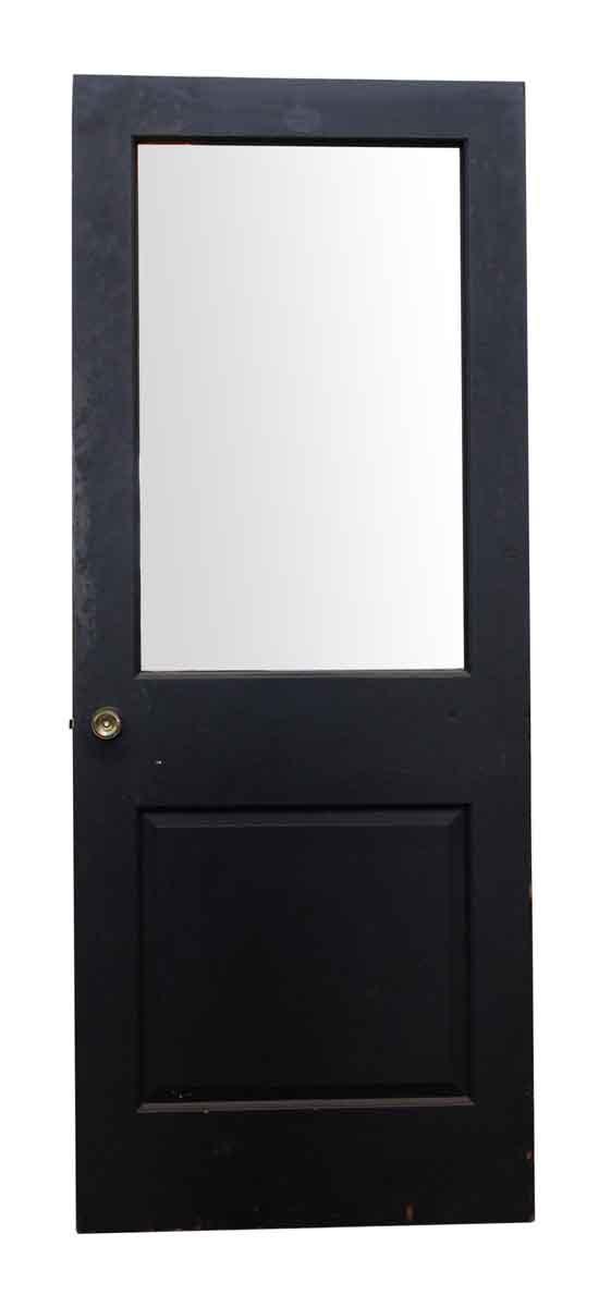 Black Wood Door with Glass Panel