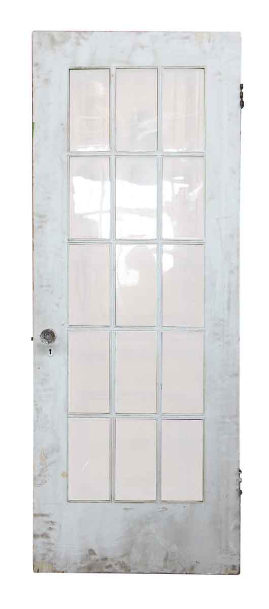 15 Wavy Glass Panel Wood Door Olde Good Things