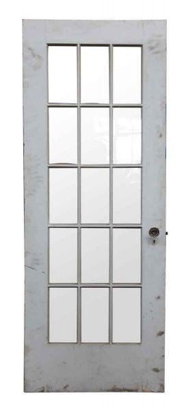 15 Wavy Glass Panel Wood Door