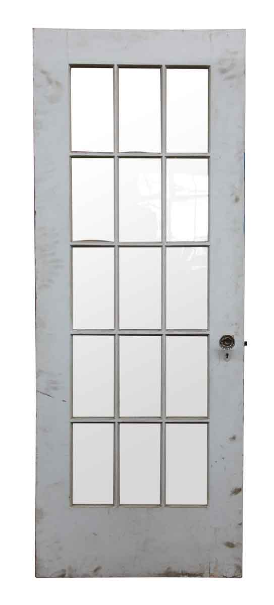 15 Wavy Glass Panel Wood Door