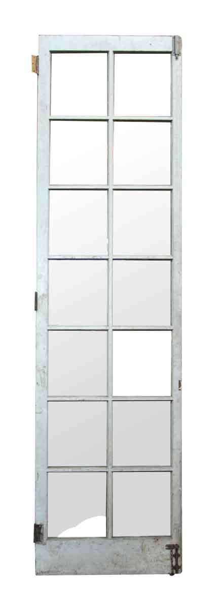 Single 14 glass panel thin wood door olde good things for Single glass french door