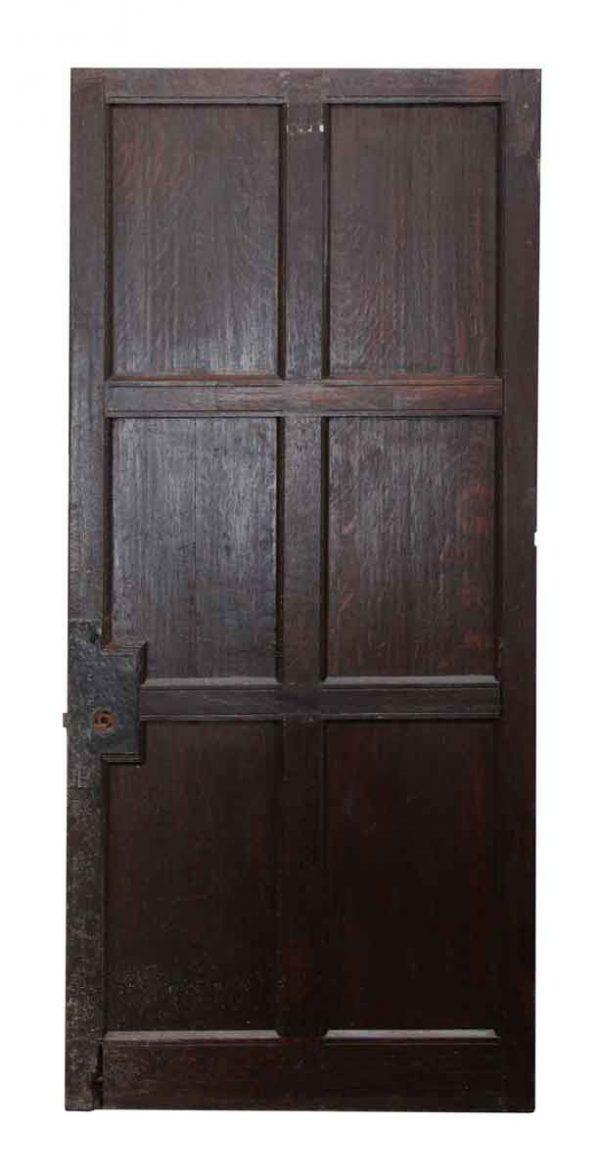 Six Panel Dark Wooden Door