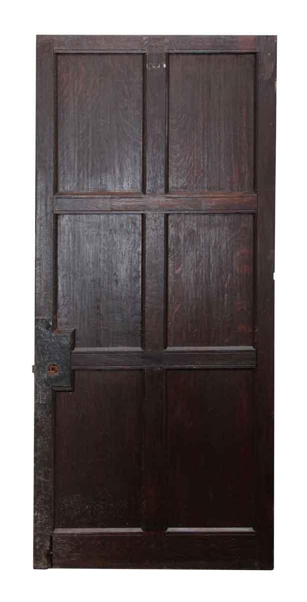 Six Panel Dark Wooden Door Olde Good Things