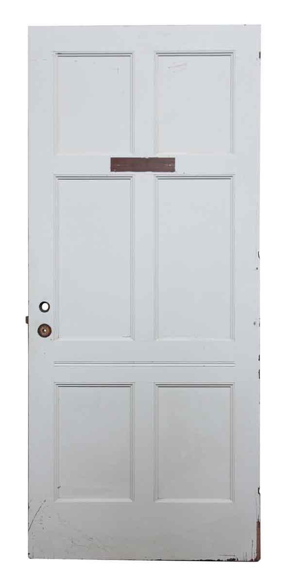 Six Panel Plain Wooden Door