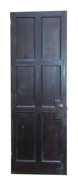 Narrow Wooden Six Panel Door