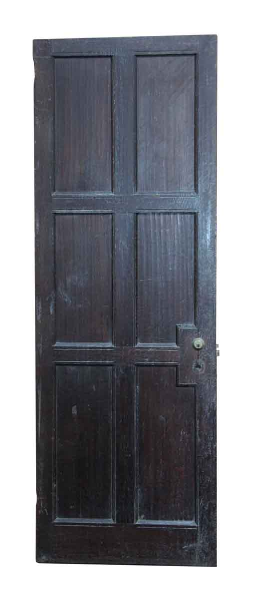Narrow Wooden Six Panel Door
